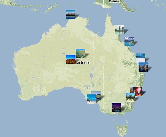 Kaart Australië
