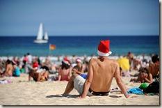 Kerst op Bondi Beach