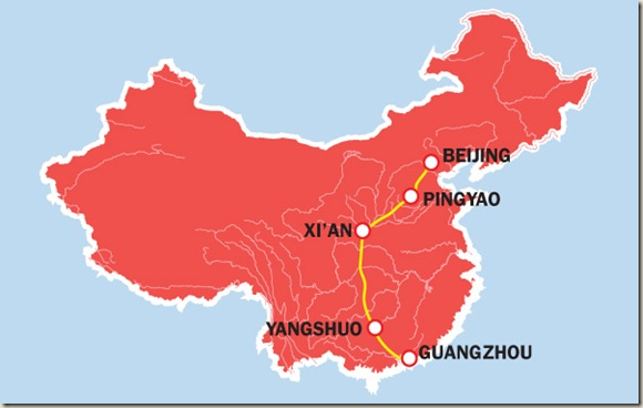 Route rondreis China
