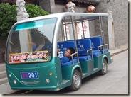 Een taxichauffeur in Pingyao